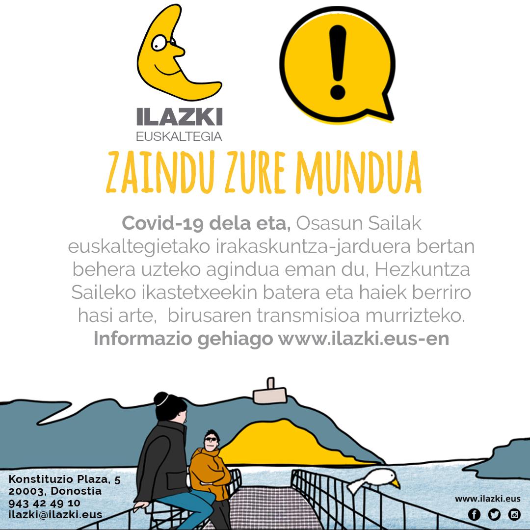 Ilazki estará cerrado por prevención al COVDI-19